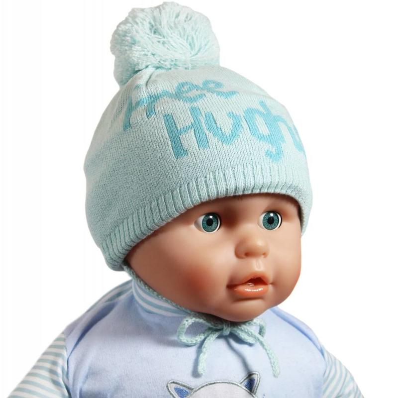 "Babymuts pompom ""Free Hughs"" mint"