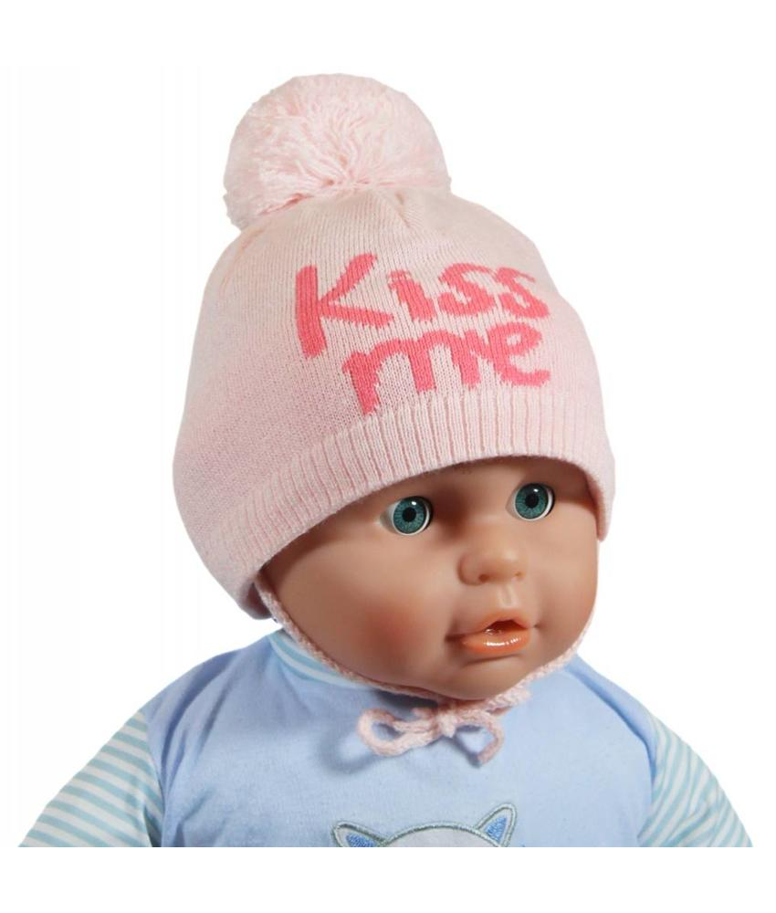 "Babymuts pompom ""Kiss me"" pink"