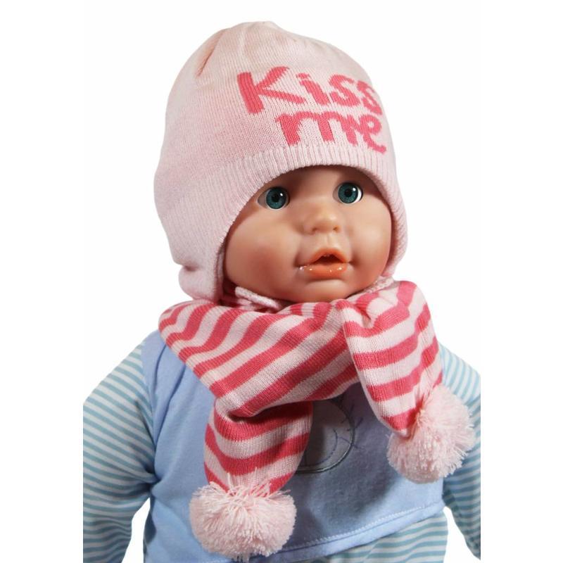 """Baby muts en sjaal """"Kiss me"""" pink"""
