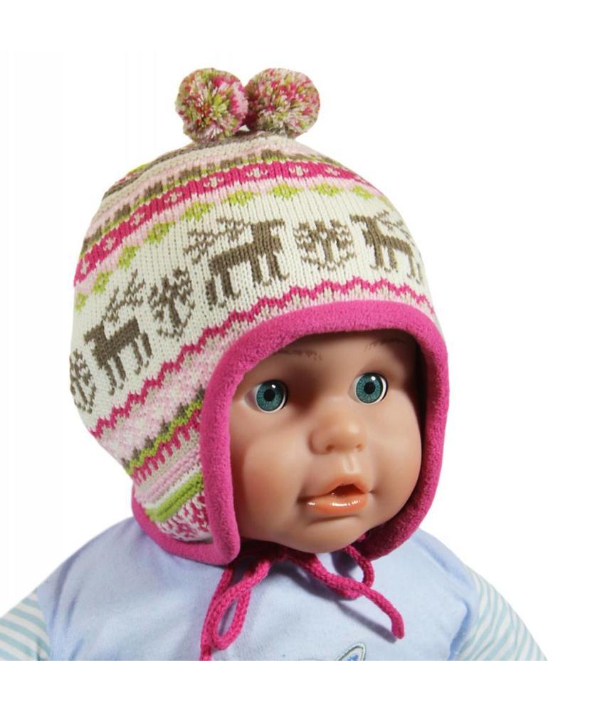 Baby- kindermuts Eland roze
