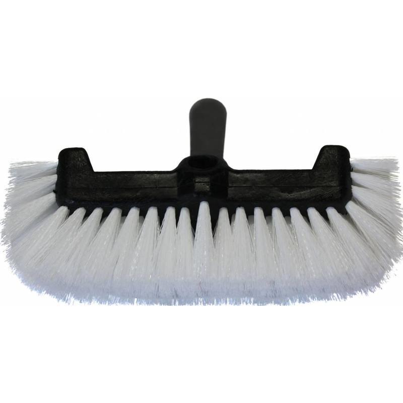 Waterdoorlatende schoonmaakborstel hard wit