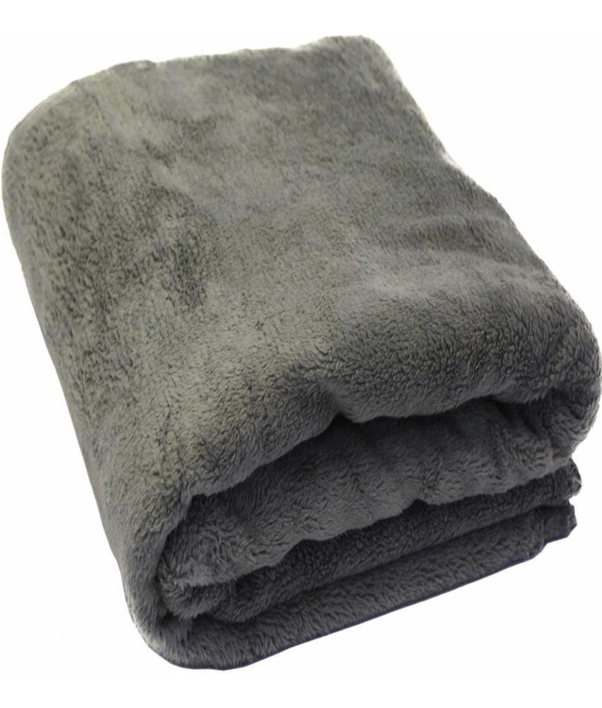Fleece Plaid met extra zak 127 x 152 cm Grijs