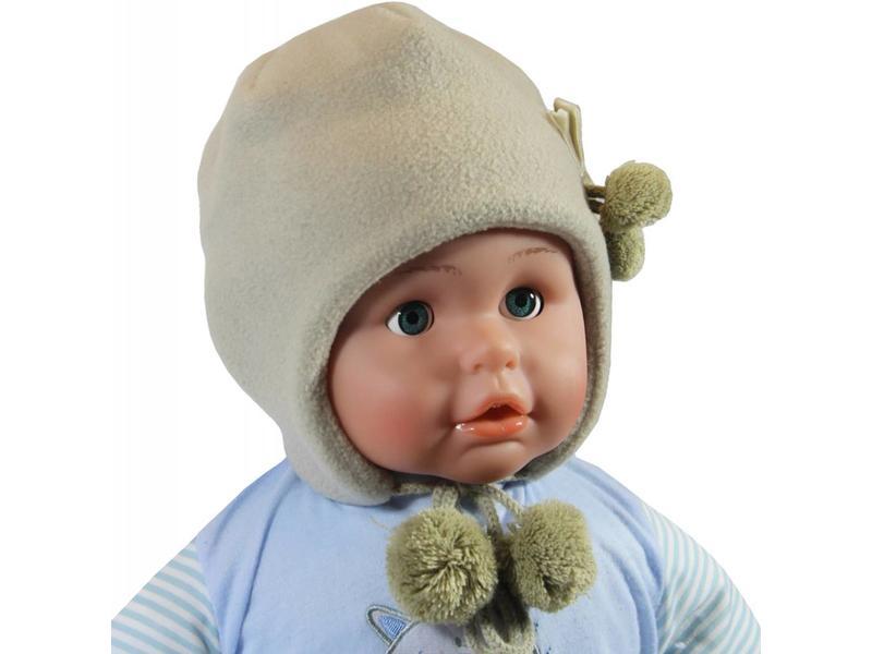 Babymuts fleece Beige