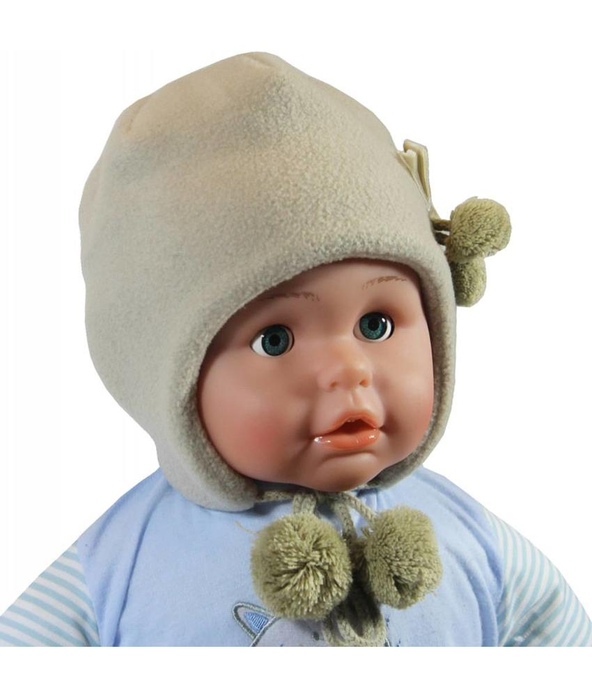 Babymuts fleece Beige