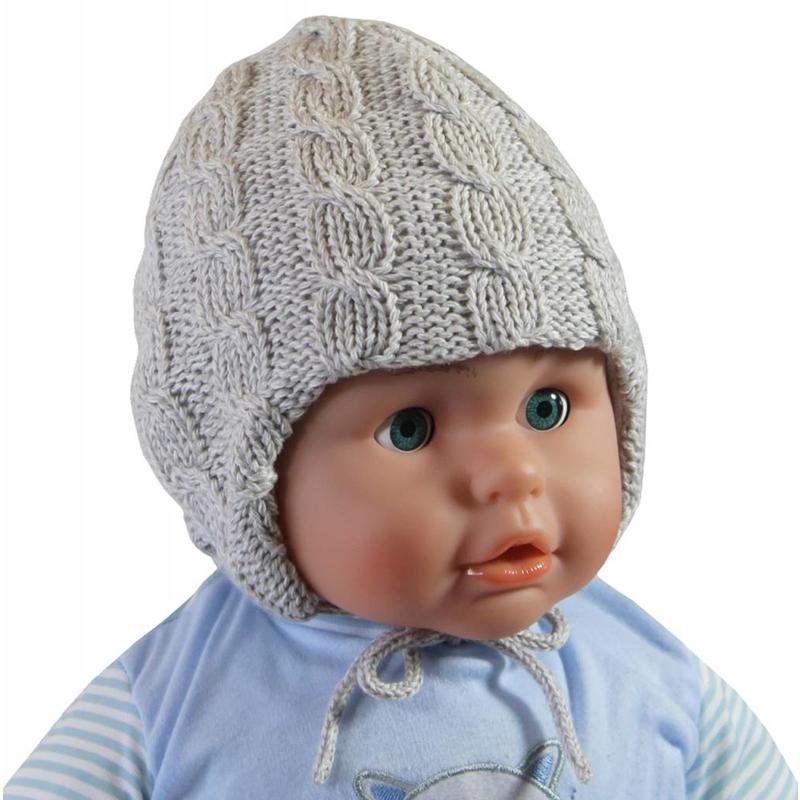 Baby muts gebreid grijs