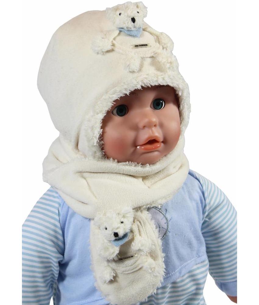 Baby Muts en Sjaal Fleece / Teddy