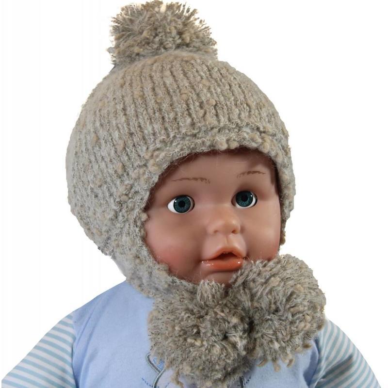 Baby- Kindermuts Mohair beige