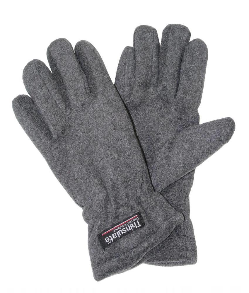 Fleece handschoenen Dames Grijs