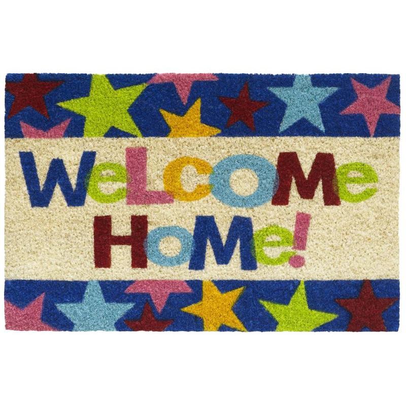 Kokosmat Welcome home stars 40x60 cm.