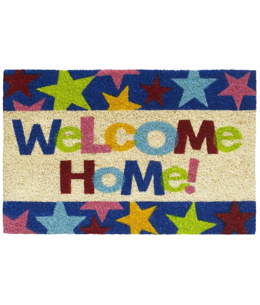 Kokosmat Welcome home stars 40x60 cm.