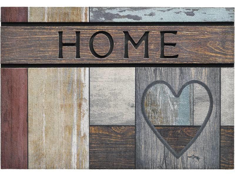 Rubber Deurmat ECO Master 45 x 75 cm. Top Wooden Heart