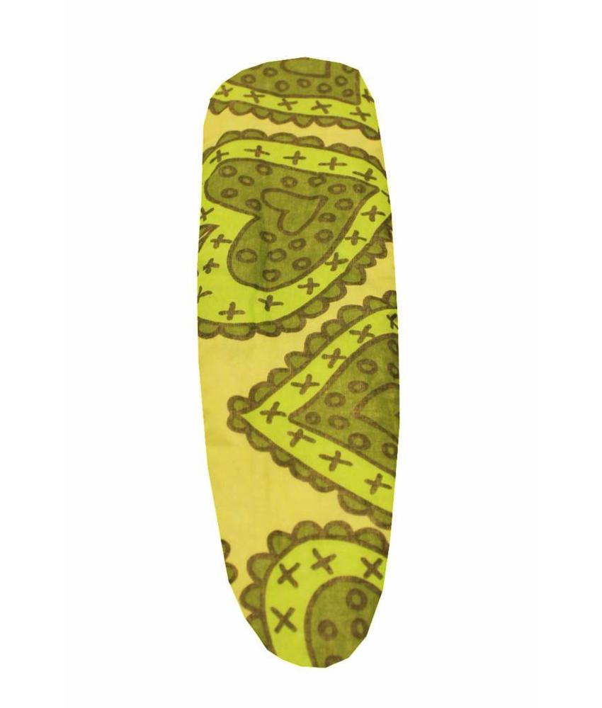 Mouwplankovertrek / elastiek 65 x 22 cm groen hart