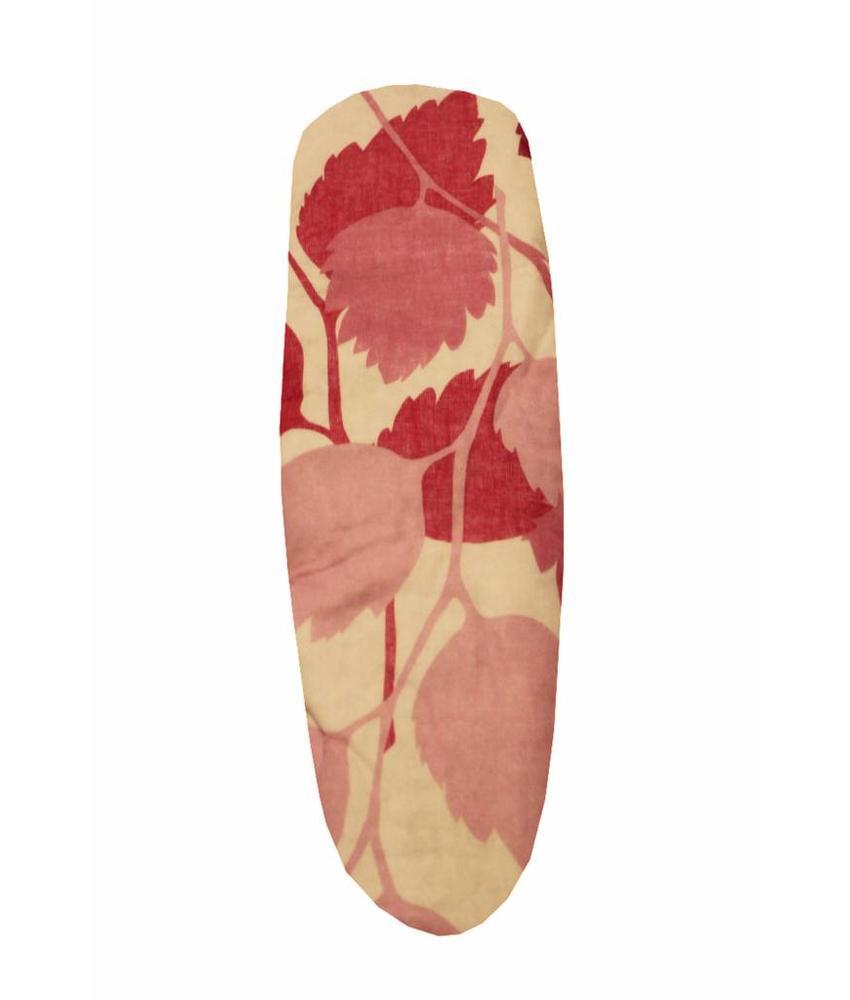 Mouwplankovertrek / elastiek 65 x 22 cm roze bloem