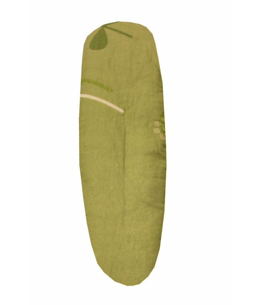 Mouwplankovertrek / elastiek 65 x 22 cm groen