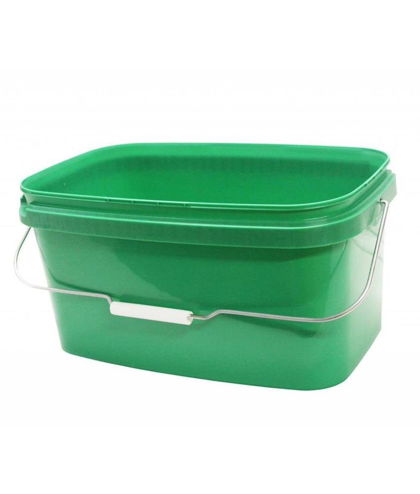 Emmer rechthoekig 10 Liter Groen