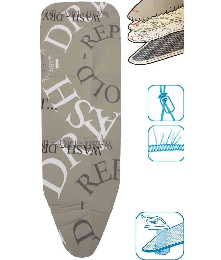 Strijkplankovertrek 3 lagen maat A Beige / repeat fold