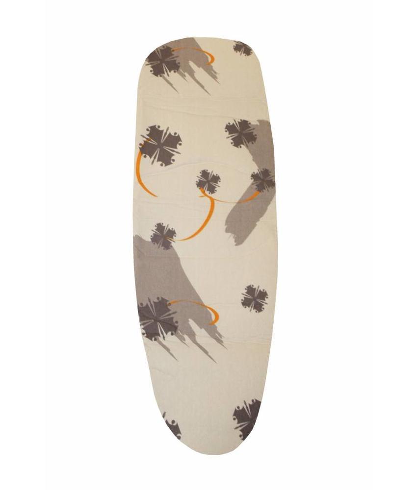Mouwplankovertrek 59 cm x 21 cm beige / bruin