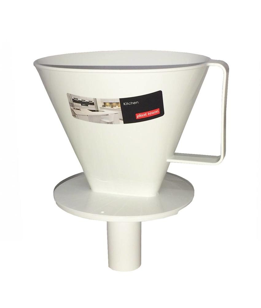 Koffiefilter wit 1 x 4