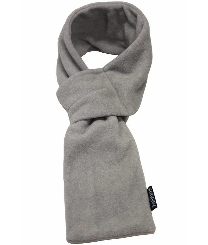 Doorsteek Sjaal fleece licht Grijs