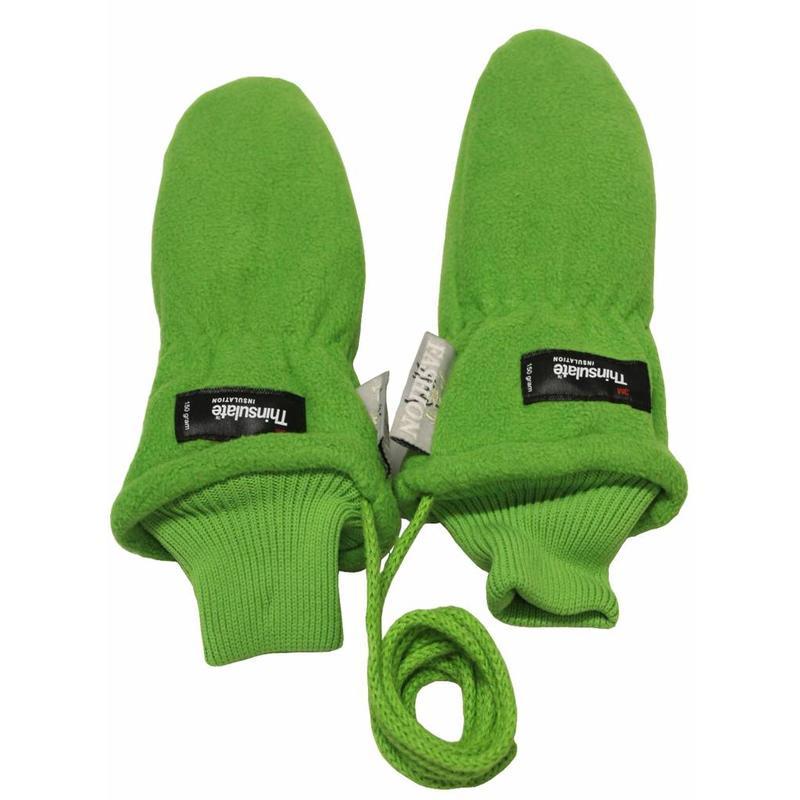 Fleece wanten kinderen licht Groen