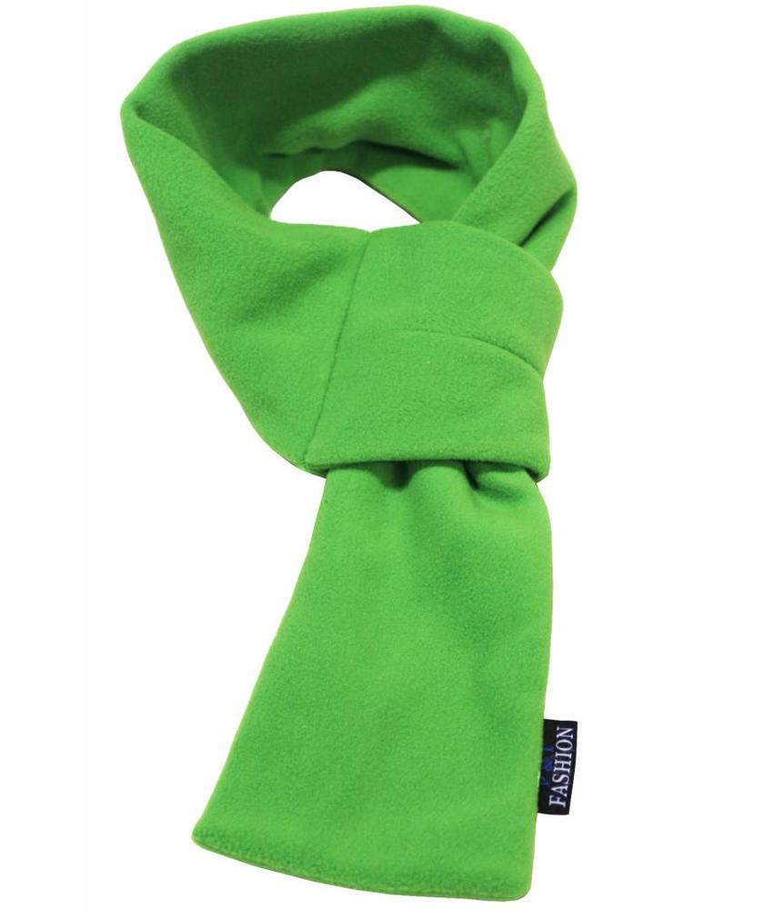 Doorsteek Sjaal fleece licht Groen
