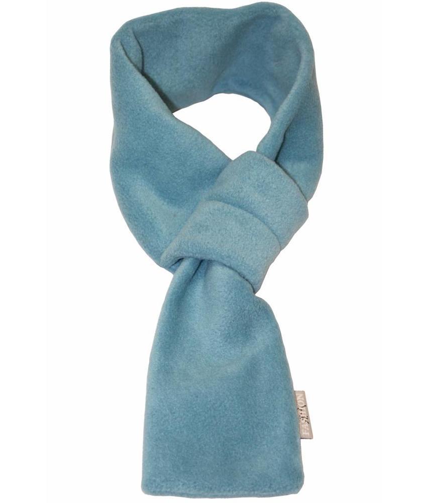 Doorsteek Sjaal fleece licht Blauw