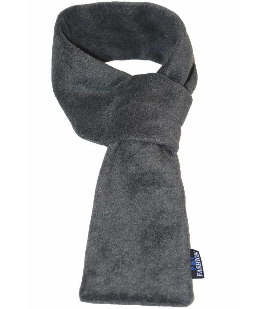 Doorsteek Sjaal fleece antraciet Grijs