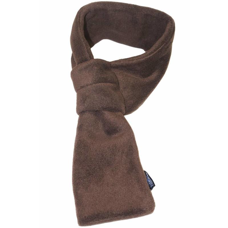 Doorsteek Sjaal fleece Bruin