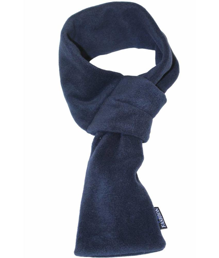 Doorsteek Sjaal fleece navy Blauw
