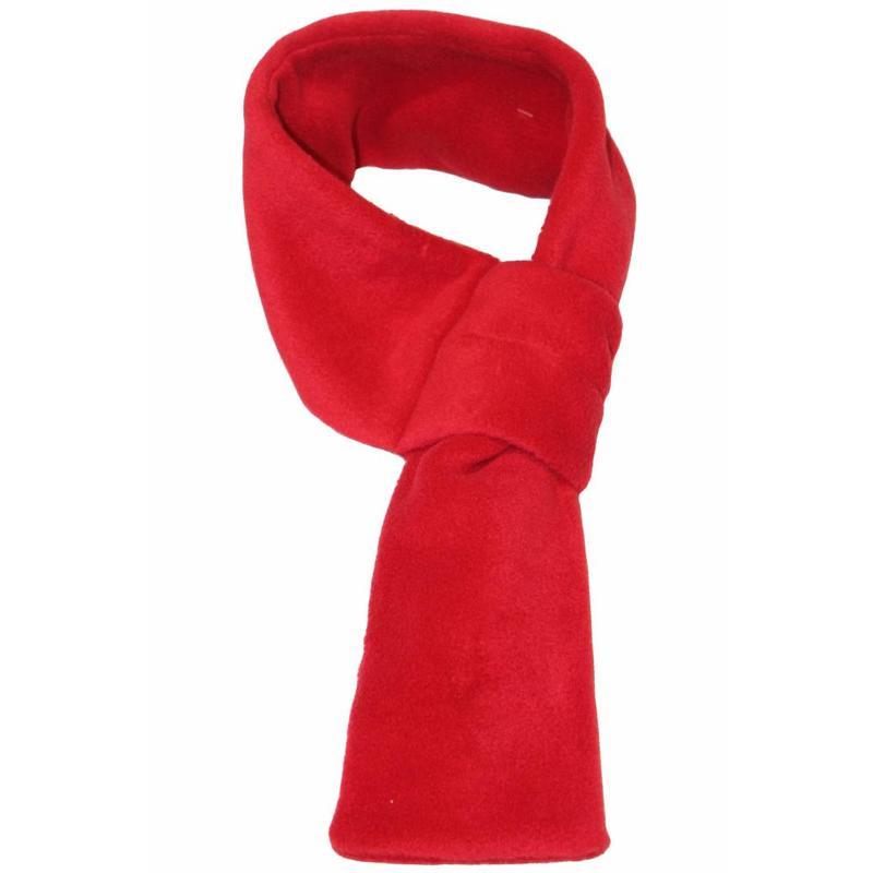Doorsteek Sjaal fleece Rood