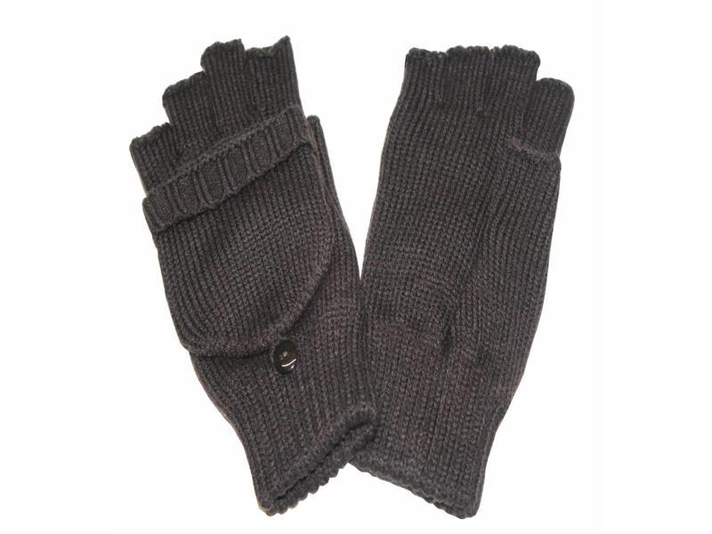 dames handschoenen zonder vingers met flap bruin - megatip.be