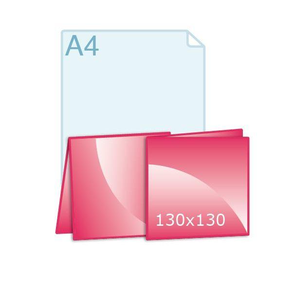 Gevouwen kaart carré 130 (260 x 130 mm)