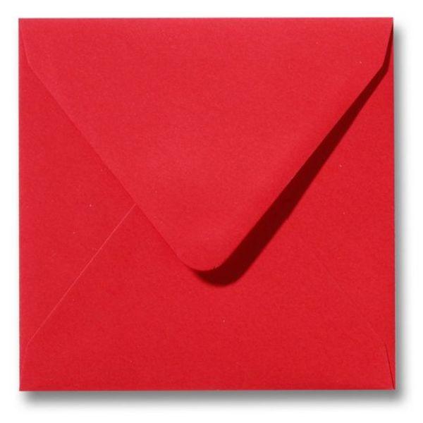 Gekleurde envelop Koraalrood