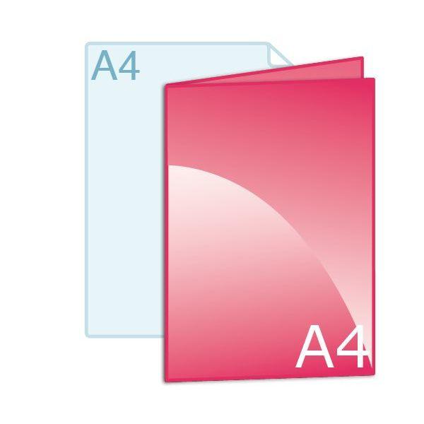 Gevouwen kaart A4 (210 x 297 mm)