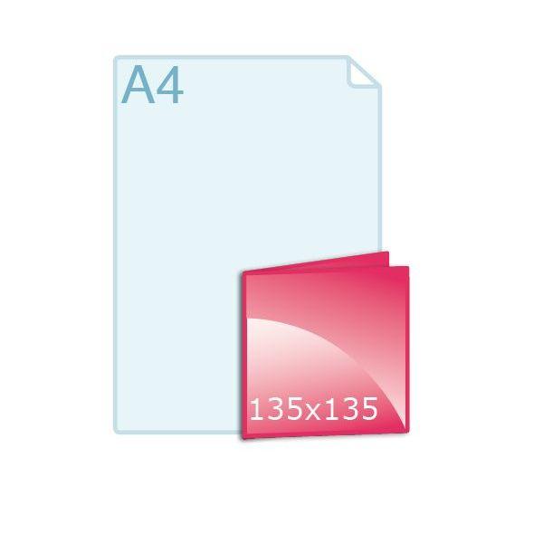 Gevouwen kaart carré 135 (135 x 135 mm)