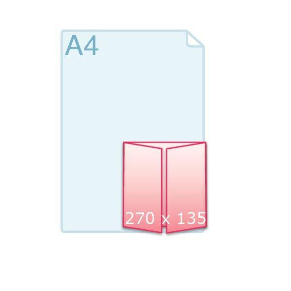 Luikvouw carré 135 (135 x 135 mm)