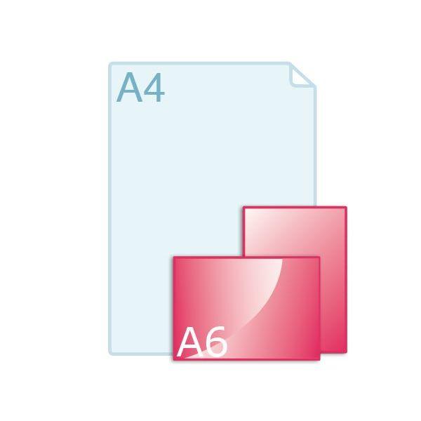 Inlegvellen voor kaart A6 (148 x 105 mm)