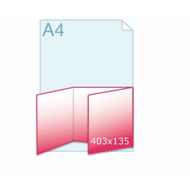 Drieluik wikkel carré 135 kaart