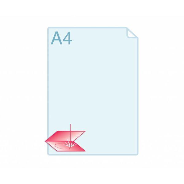 Laserstansen op formaat gevouwen visitekaartjes (110x 85 mm en 170 x 55 mm) of kleiner