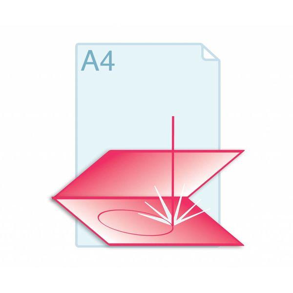 Laserstansen op gevouwen formaat A4 (297 x 420 mm) of kleiner