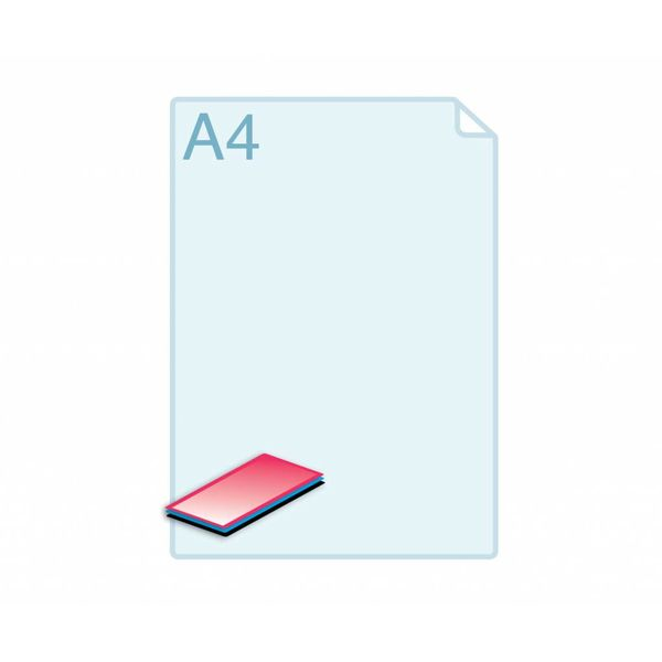 Cacheren 2 of 3 laags op formaat Visitekaartje (85 x 55 mm) of kleiner