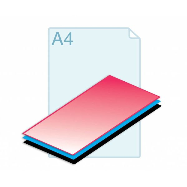 Cacheren 2 of 3 laags op formaat A4 (210 x 297 mm) of kleiner