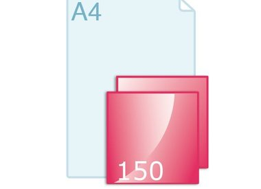 Enkele kaart carré 150