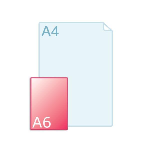 Enkele kaart A6 (148 x 105 mm) staand maken