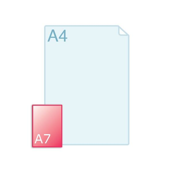 Enkele kaart A7 (74 x 105 mm) staand