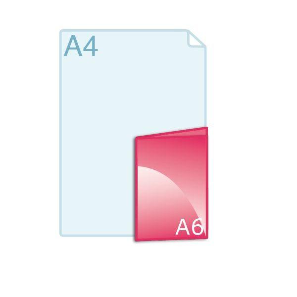 Gevouwen folder A6 (105 x 148 mm)