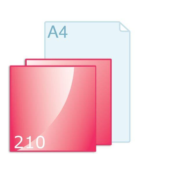 Enkele kaart carré 210 (210 x 210 mm) maken