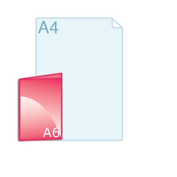 Gevouwen kaart A6 staand 210 x 148 mm