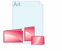 Folders drukken in een eigen formaat binnen een gevouwen A6 (opengevouwen 210 x 148 of 296 x 105 mm)