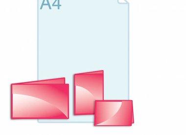 Folders kleiner dan gevouwen A6